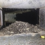Part way through our Ductwork Cleaning Process